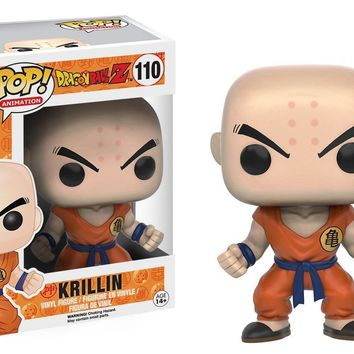 "Funko Pop Dragonball Z Krillin Anime 3.75"" Vinyl Figure IN STOCK"