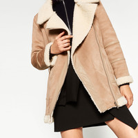 OVERSIZED SUEDE-EFFECT JACKET