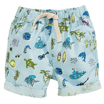 Boys Shorts Kids Clothes Children Beach Shorts for Boys Clothing Animal Print Cotton Baby Boy Short