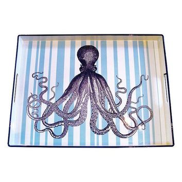 Pre-owned Whimsical Blue Octopus Tray