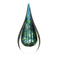 Peacock Inspired Art Glass Sculpture