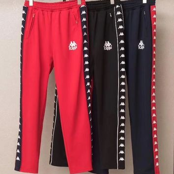 kappa tnt tape embroidery casual trousers pants