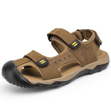 28-68 Plus Size Men Sandals Soft Leather Sandals Men Big Size High Quality