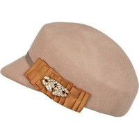 dark beige captains hat - hats - accessories - women - River Island