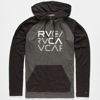 Rvca Graham Stacked Mens Lightweight Hoodie Black  In Sizes
