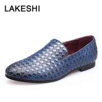 Men Formal Shoes Men Shoes Luxury Brand Braid Leather Casual Driving Oxfords Shoes Men Loafers Moccasins Business Shoes For Men