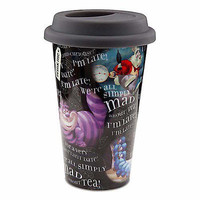disney parks alice wonderland cheshire cat simply mad ceramic tumbler mug new