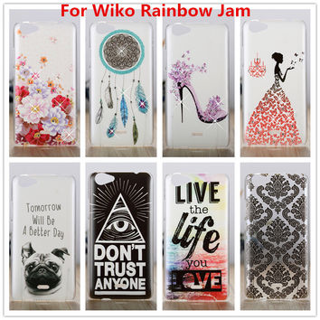 For Wiko Rainbow Jam Case /Luxury Crystal Diamond 3D Bling Hard Plastic Cover Case For Wiko Rainbow Jam Cell Phone Cases