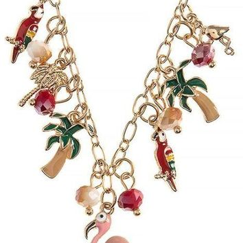 Tropical Charm Necklace & Earring Set-In Stock