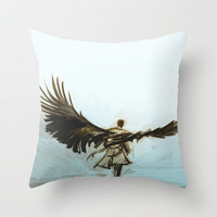 (Castiel) A Lonely Road Throw Pillow by Alice X. Zhang
