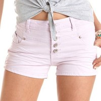 High Waisted Colored Denim Short: Charlotte Russe