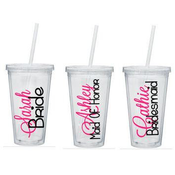 Bridesmaid Tumbler, Bridesmaids Tumbler, Bridesmaid Tumblers, Bridesmaid Gift, Will You Be My Bridesmaid, Personalized Tumbler