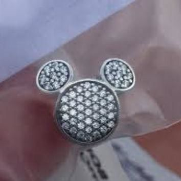 Disney Pandora Mickey Mouse Ears Shine On Bracelet Clip Charm Bead