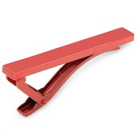 Red Stainless Steel Tie Clip