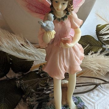 The Fairy Collection by Dezine Feeding the Bird Fairy 1996 Figurine 5804