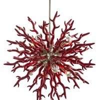 "Diallo 24"" Chandelier, Red"
