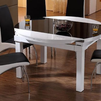 Folding table  function scale eat desk and chair combination of toughened glass solid wood round dining tables