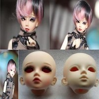 1/4 SD BJD Dollfie Boy/Girl Doll Parts Single Head (Not Include Make-up) White