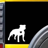 Pitbull Uncropped Little Heart *J671* Decal American Bully Sticker