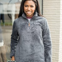 Charles River Newport Fleece Sherpa Pullover- Charcoal