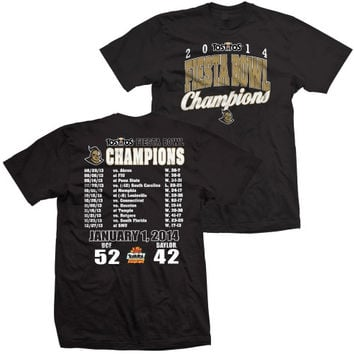 UCF Knights 2014 Fiesta Bowl Champions T-Shirt - Black-