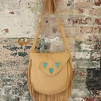 Three Arrows Leather   Turquoise Desert Crossbody at Free People Clothing Boutique