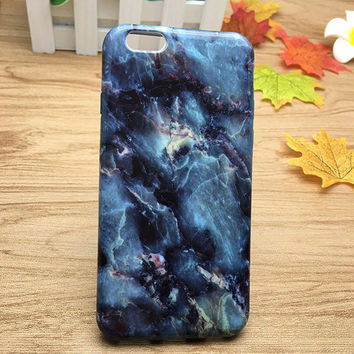 Galaxy Blue Marble Grain Case for iPhone