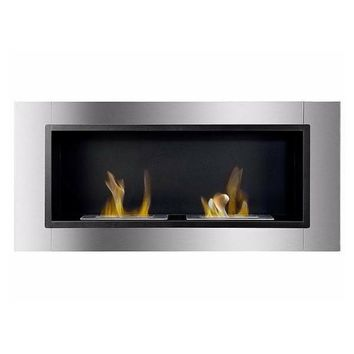 "Ignis Lata - 43"" Built-in/Wall Mounted Ethanol Fireplace (WMF-022)"