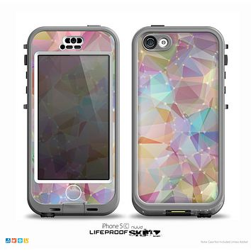 The Abstract Geometric Subtle Colored Connect Blocks Skin for the iPhone 5c nüüd LifeProof Case