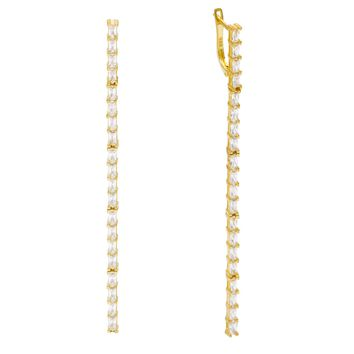 Baguette Long Bar Earrings