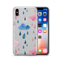 Watercolor Rain - Clear TPU Case Cover