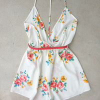 Floral Dreamer Romper : Feminine, Bohemian, & Vintage Inspired Clothing at Affordable Prices, deloom