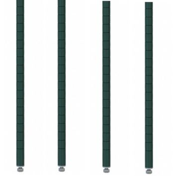 "Commercial Walk-In Box Heavy Duty Green Epoxy Posts for Shelving 74"" (Pack of 4)"
