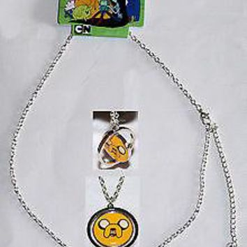 Licensed cool Adventure Time With Finn Boy And Jake Dog Spinning Pendant Necklace Jewelry 2 N1