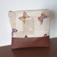 Butterfly clutch purse / Foldover clutch bag