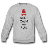 keep calm and run SWEATSHIRT CREWNECKS
