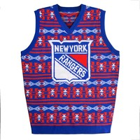 New York Rangers NHL 2015 Ugly Knit Vest Holiday Sweater