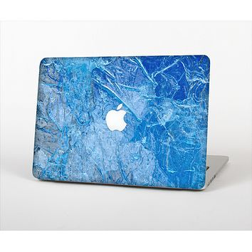 "The Deep Blue Ice Texture Skin Set for the Apple MacBook Pro 13"" with Retina Display"