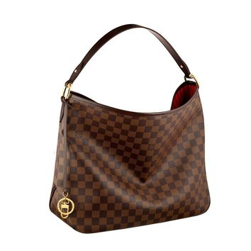 Louis Vuitton Damier Canvas Delightful MM Shoulder Tote Handbag Article: N41460 Made in France