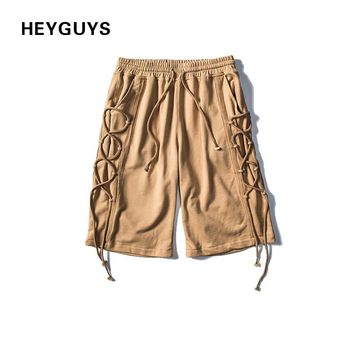 HEYGUYS 2017 design short men men board sweat short  beach clothing	street wear short  hot pants ties