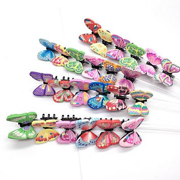 6pcs/set Polymer clay butterfly hairpin crab Claw Clip Handmade Simulation Butterfly Hair jewelry Decoration Children ornaments