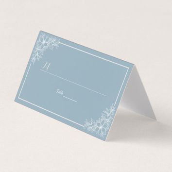 Light Blue White Floral Table Number Seating Name Place Card