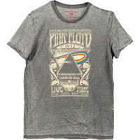 Pink Floyd Men's  Carnegie Hall 1972 T-shirt Grey Rockabilia