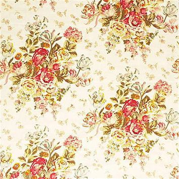 Mulberry Fabric FD206.J59 Floral Bouquet Cream/R