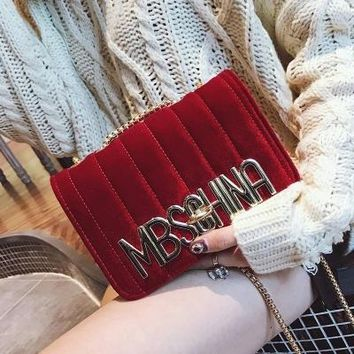 Luxury Flap Women Tote Handbags Purse And Clutch Brand Ladies  Velvet Shoulder Bags