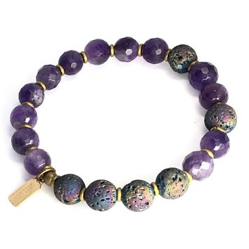 Amethyst Essential Oil Diffuser Bracelet - Aromatherapy Bracelet