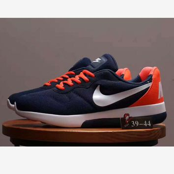 """NIKE"" Hot Sale Fashion Men Running Sport Casual Shoes mesh Sneakers Dark blue"