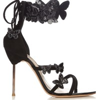 Harmony butterfly-appliqué suede sandals   Sophia Webster   MATCHESFASHION.COM US
