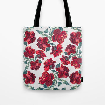 Roses  Pattern Tote Bag by MIKART