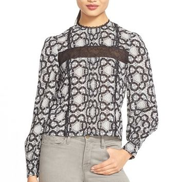 Women's Alice + Olivia 'Angeline' Stretch Silk Top,